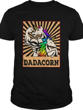 Father Day Strong Unicorn Dadacorn shirt