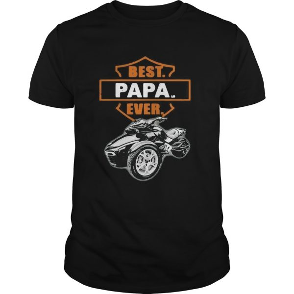 Fathers Day Best Papa Ever Motorbike  Unisex
