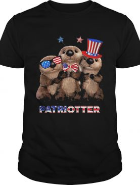 Independence Day Otter Patriotter shirt