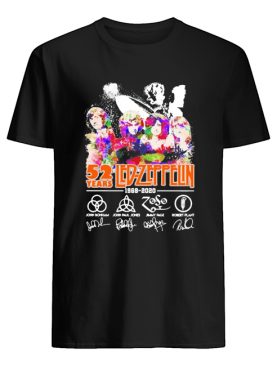 Led Zeppelin 52 Year 1968 2020 Signatures shirt
