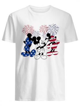 Mickey mouse american flag firework independence day shirt