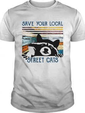 Racoon Save Your Local Street Cats Vintage shirt