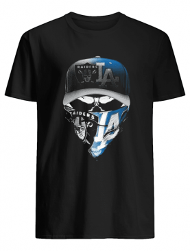 Skull Mask Oakland Raiders And Los Angeles Dodgers shirt