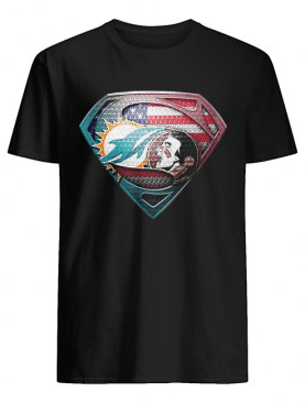 Superman miami dolphins vs florida state american flag independence day shirt
