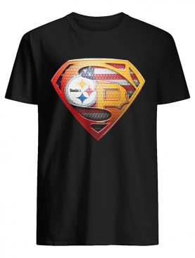 Superman pittsburgh steelers vs pittsburgh pirates cap american flag independence day shirt