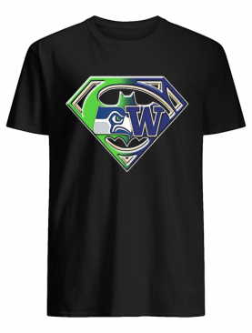 Superman seattle seahawks and washington huskies shirt