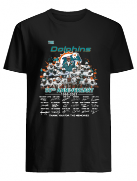 The Dolphins 55th Anniversary 1966-2021 Thank You For The Memories shirt