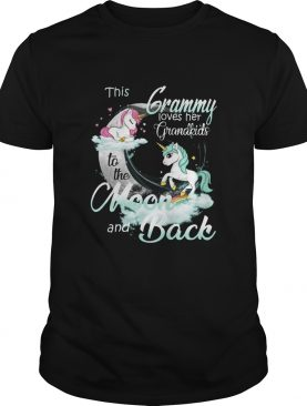 This Grammy Loves Her Grandkids To The Moon And Back Unicorn shirt