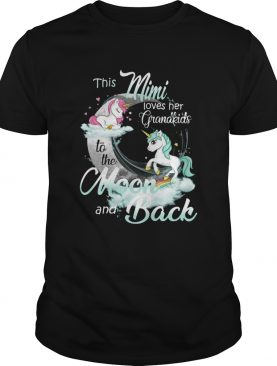 This Mimi Loves Her Grandkids To The Moon And Back Unicorn shirt