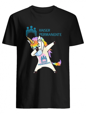 Unicorn mask dabbing kaiser permanente shirt
