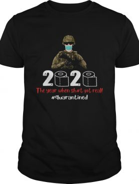 Veteran mask 2020 the year when shit got real quarantined toilet paper covid19 shirt