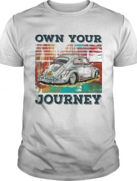 Volkswagen beetle own your journey vintage shirt