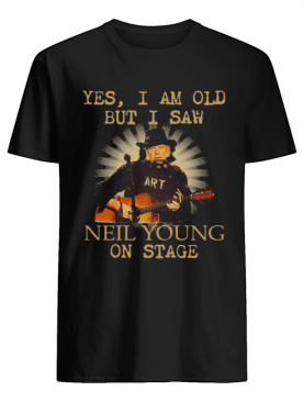 Yes i am old but i saw neil young on stage guitar shirt