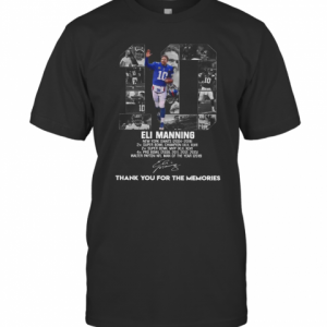 10 Eli Manning Thank You For The Memories Signature T-Shirt Classic Men's T-shirt