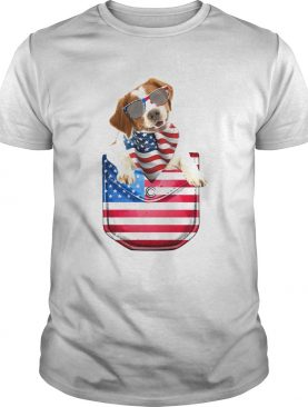 Brittany pocket american flag independence day shirt