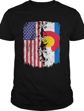 Colorado And American Flag Independence Day shirt