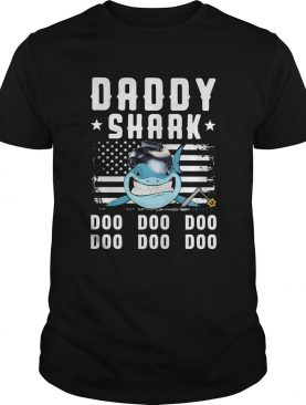 Daddy shark doo doo doo welder american flag veteran independence day shirt