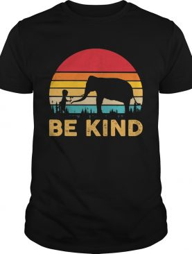 Elephant be kind vintage retro shirt