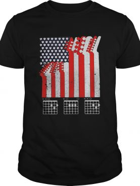 Guitar dad american flag independence day shirt