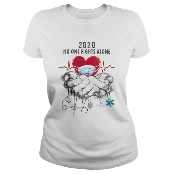 Heartbeat mask 2020 no one fights alone caduceus headset 911 nurse police dispatch EMS  Classic Ladies