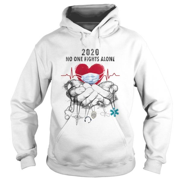 Heartbeat mask 2020 no one fights alone caduceus headset 911 nurse police dispatch EMS  Hoodie