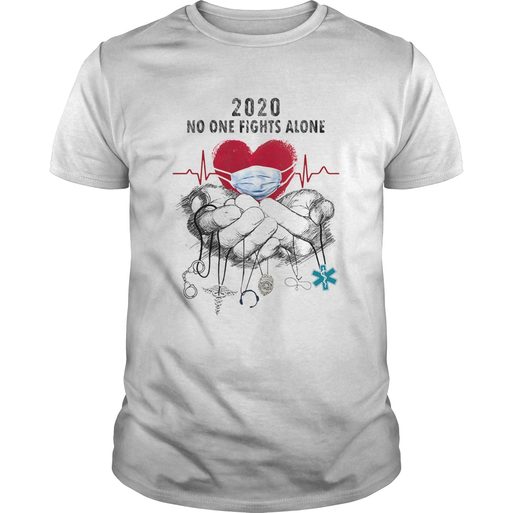 Heartbeat mask 2020 no one fights alone caduceus headset 911 nurse police dispatch EMS Unisex