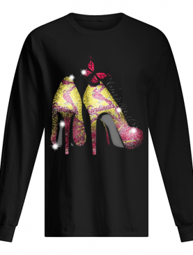 High heels butterfly st. louis cardinals diamond shirt