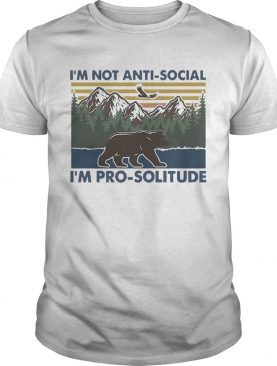 Hiking bear im not antisocial im prosolitude vintage shirt