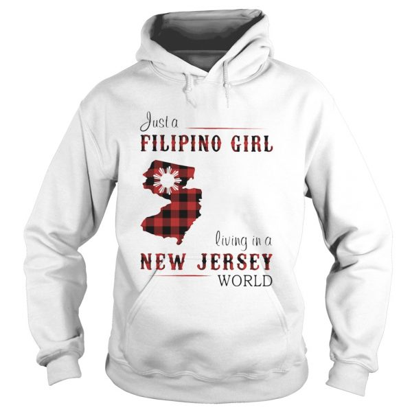 Just A Filipino Girl Living In A New Jersey Wordl  Hoodie