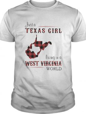 Just a Texas girl living in a west virginia map shirt