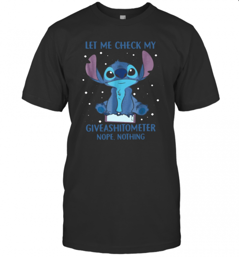 Let Me Check My Giveashitometter Nope Nothing T-Shirt Classic Men's T-shirt