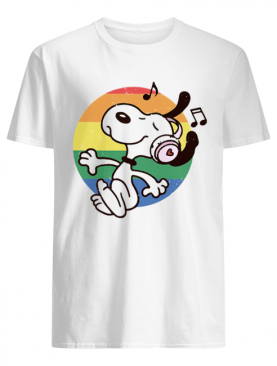 Lgbt snoopy listening to music vintage shirt