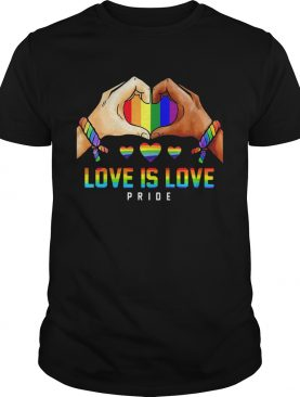 Love Is Love Pride Hand Heart LGBT shirt
