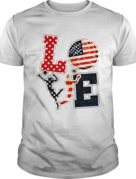 Love Volleyball American Flag shirt