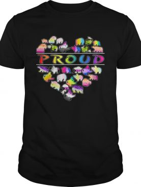 Love bear proud heart shirt