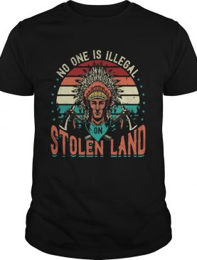 No One Is Iligelal On Stolen Land Aborigines Vintage Vintage Retro shirt