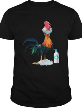 Rooster Hand Wash Soap Face Mask shirt