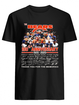 The Bears 100th Anniversary 1920 2020 Thank You For The Memories Signature shirt