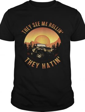 They See me Rollin They Hatin Crewneck Car shirt