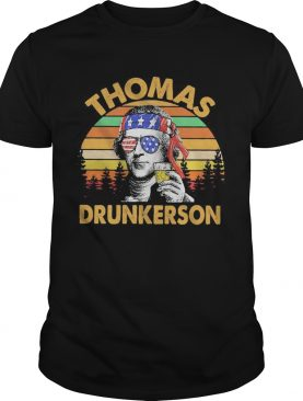Thomas drunkerson independence day vintage retro shirt