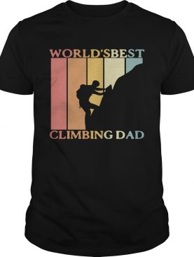 Worlds best climbing dad happy fathers day vintage retro shirt