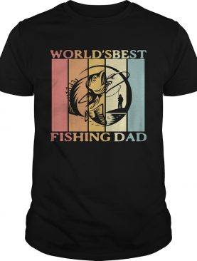 Worlds best fishing dad happy fathers day vintage retro shirt