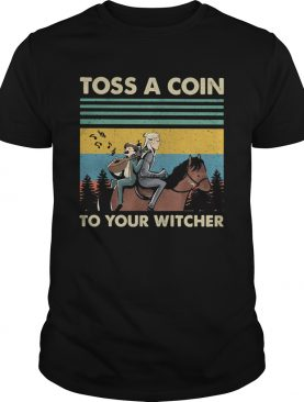 he witcher henry cavill toss a coin to your witcher vintage retro shirt