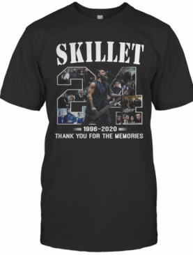 24 Skillet 1996 2020 Thank You For The Memories T-Shirt