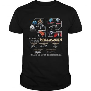 42 years of 1978 2020 10 moves halloween thank you for the memories signatures  Unisex