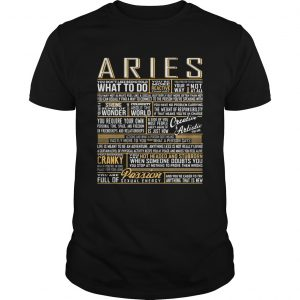 Aries What To Do Wonder World Cranky Paddion  Unisex