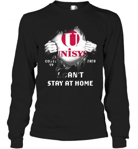 Blood Insides Unisys Covid 19 2020 I Can'T Stay At Home T-Shirt Long Sleeved T-shirt