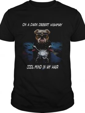 Cane Corso on a dark desert highway cool wind in my hair shirt
