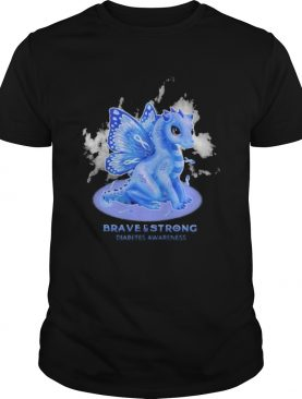 Dragon butterfly brave and strong diabetes awareness shirt