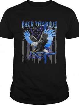Eagles back the blue american flag happy independence day shirt